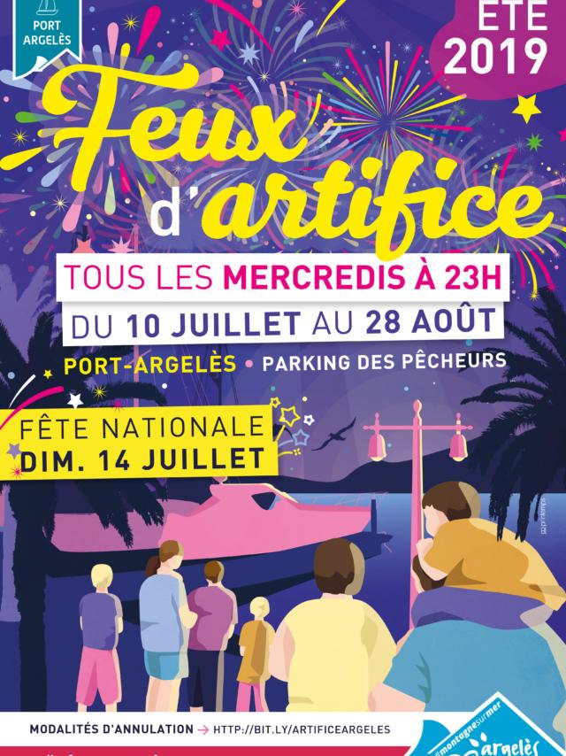 Feux Artifice Argeles 2019