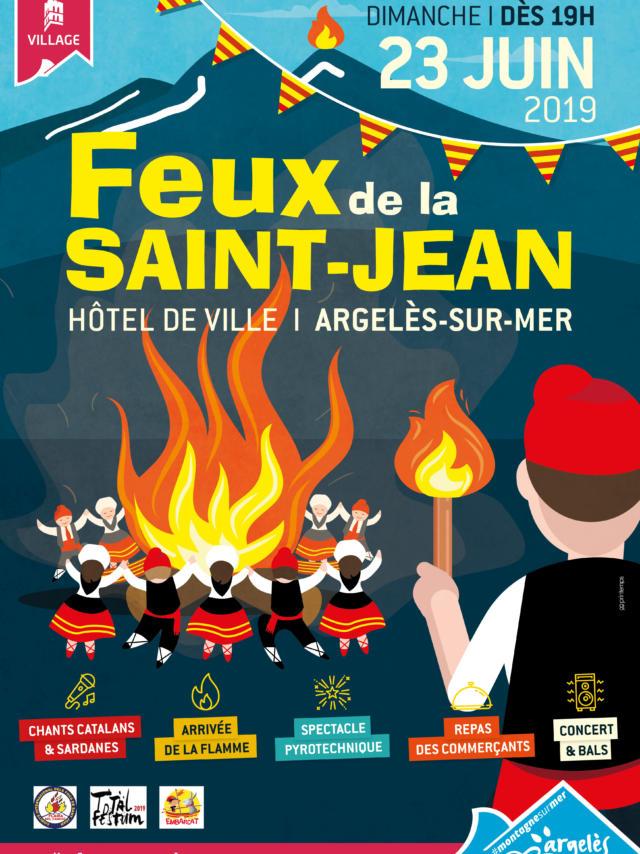 Feux Saint Jean Argeles 2019