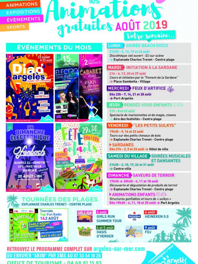 Affiche Programme D'août 2019