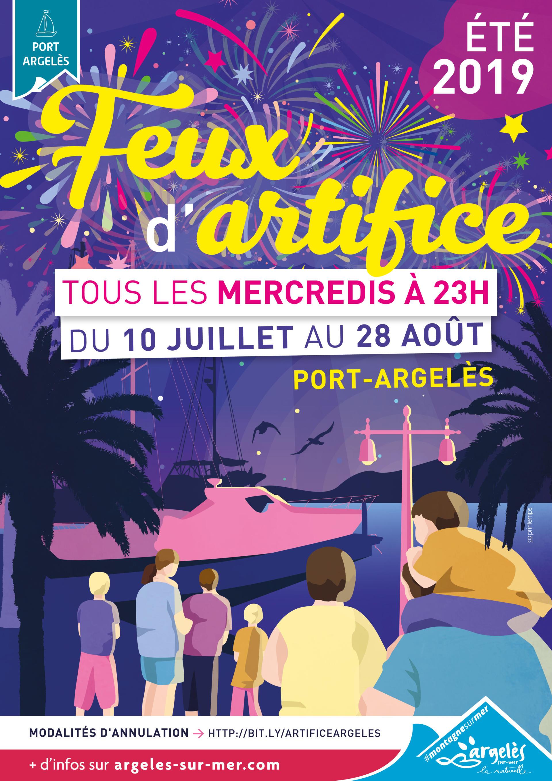 Calendrier Feu D Artifice 2020.Feux D Artifice Office De Tourisme Argeles Sur Mer