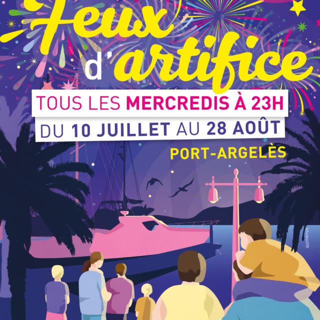 Feux Artifice Argeles Ete 2019