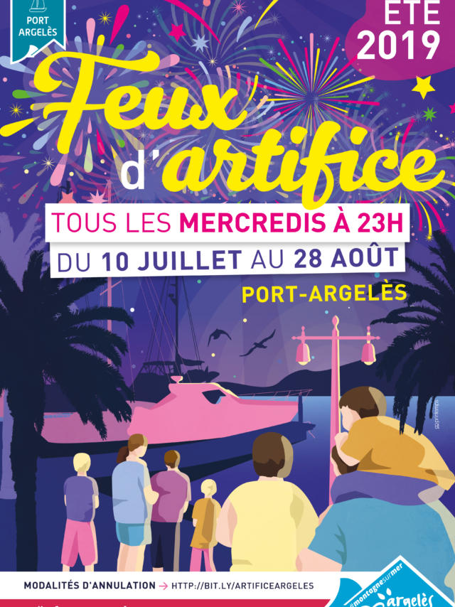 Feux Artifice Argeles Ete 2019