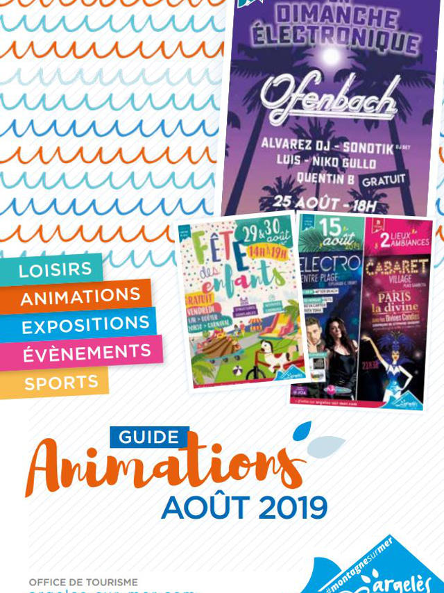 Guide Animations Argeles Aout 2019 Couv
