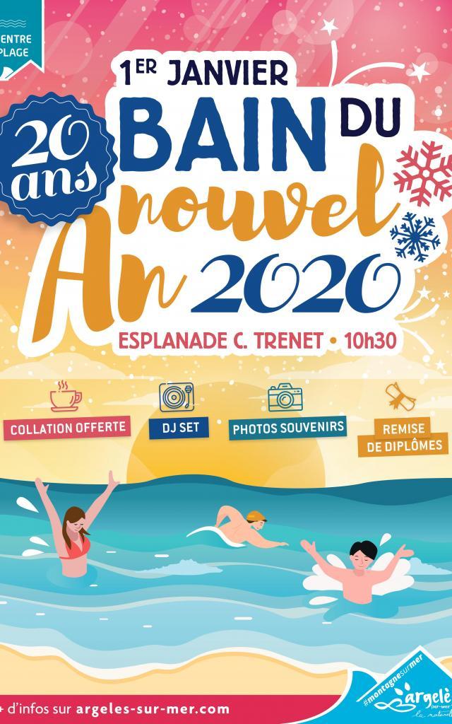 Bain Nouvel An Argeles 2020