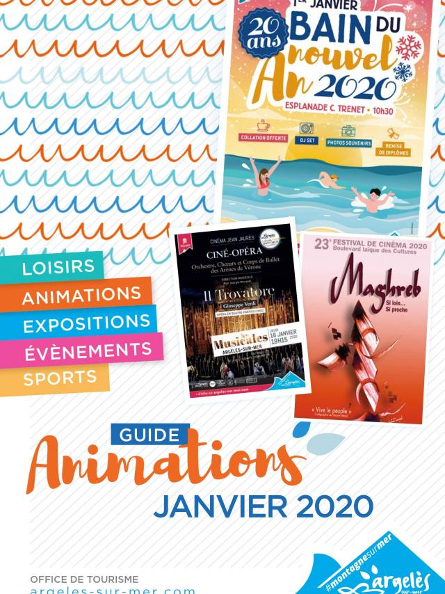 Guide Animations Janvier 2020 Argeles Couv